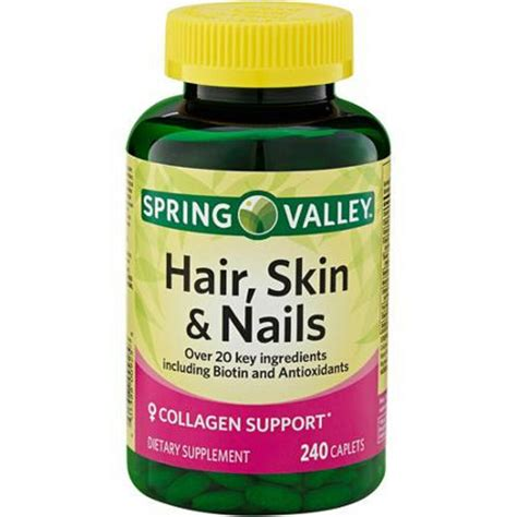 hair and nail supplement valley hair skin and nails 240 caplets pills
