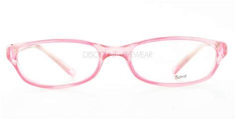 new soho eyewear 59 eyeglasses clear pink frame