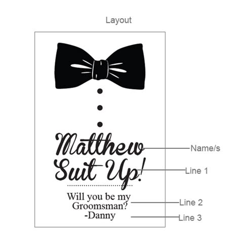 Bowtie Will You Be My Groomsman Personalized Wine Labels 6 Pcs Groomsmen S Gifts Novelty Groomsmen Template