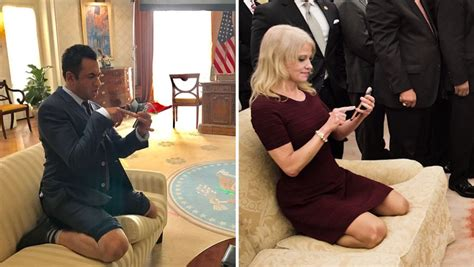 on the couch show kal penn spoofs kellyanne conway couch photo on