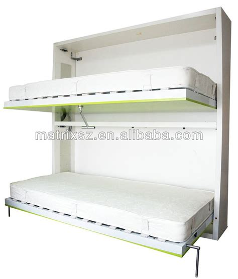 folding wall bed bunk horizontal double wall folding bed wall bed china