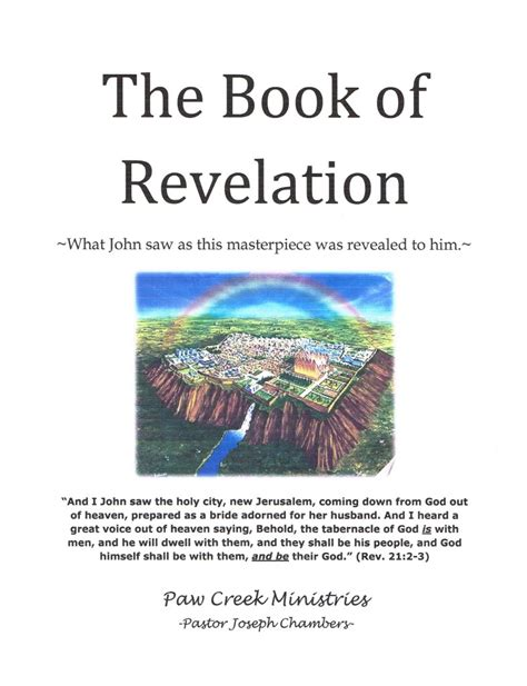 pictures of the book of revelation notebook the book of revelation paw creek ministries