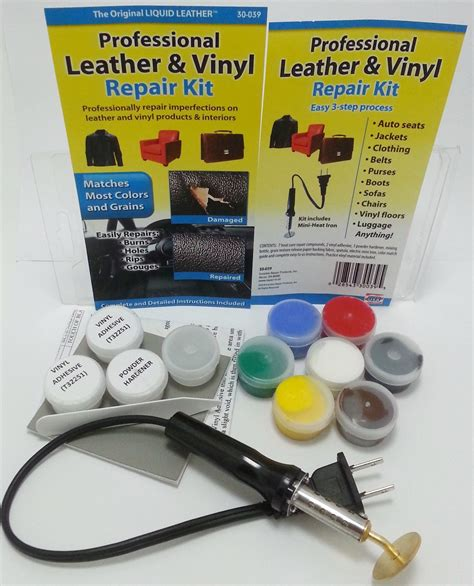 boat seat leather pro leather vinyl repair kit fix sofa car boat seats