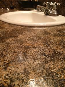 Imitation Granite Countertop by Update Faux Granite Countertop In Bathroom Oooh I