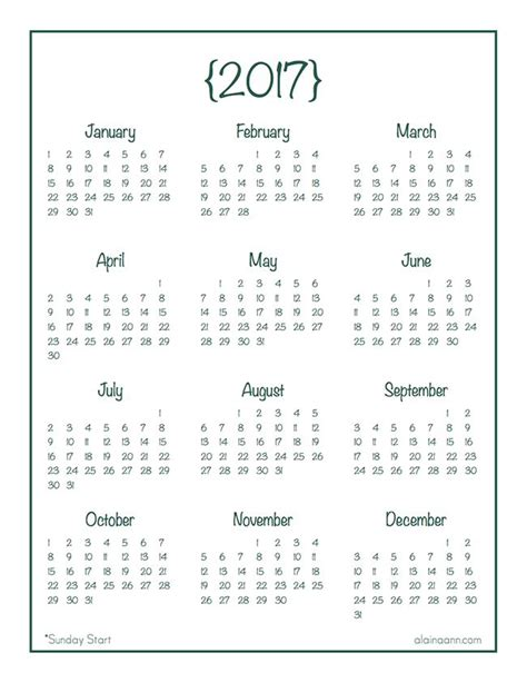 calendar template year 1000 ideas about printable yearly calendar on