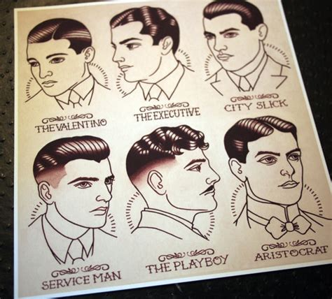 1920s Men Hairstyle Names | 1920 s gentlemen s hairstyle barber barbering guide
