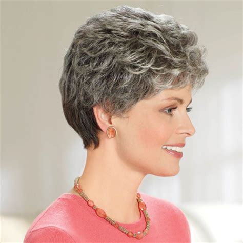 salt pepper hair styles cancer patients wigs chemo wigs gray wigs short wigs