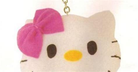 cara membuat gantungan kunci hello kity cara membuat boneka hello kitty mini dari kain flanel