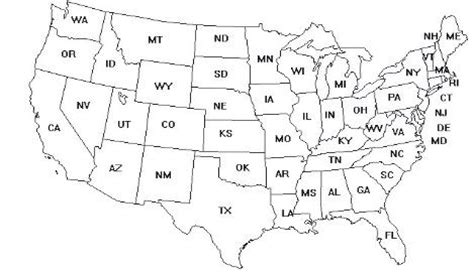printable map of the continental united states service