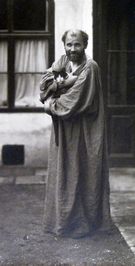 and cat klimt and his cat weequizzie