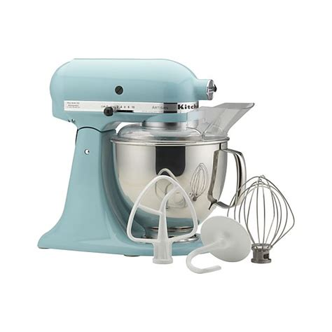 KitchenAid ® Artisan Aqua Sky Stand Mixer   Crate and Barrel