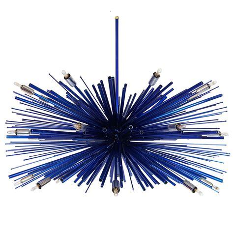 blue chandelier light designer original custom supernova quot electric blue