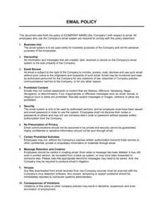 it policy document template email policy strict template sle form biztree
