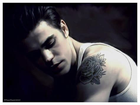paul wesley rose tattoo stefan the diaries wallpaper 32324377 fanpop