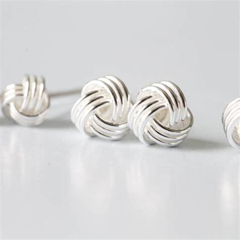 Knot Stud Earring silver friendship knot ear studs earrings by attic