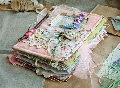shabby chic mini journal art journals handmade