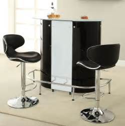 Black bar table with white glass top amp wine storage