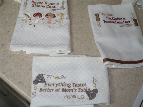Kitchen Towels With Sayings Few Kitchen Towels Mushrooms Design By Husqvarna Other