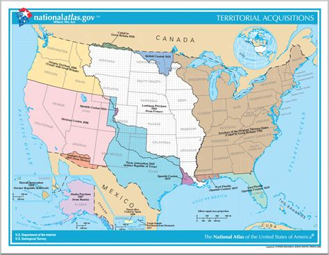 us history map interactive territorial acquisitions of the united states since 1783