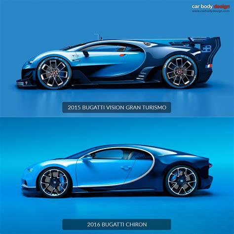 porsche chion wheels bugatti chiron vs vision gran turismo design comparison