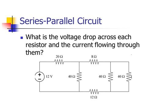 voltage drop across resistors in parallel and series electric circuits ppt