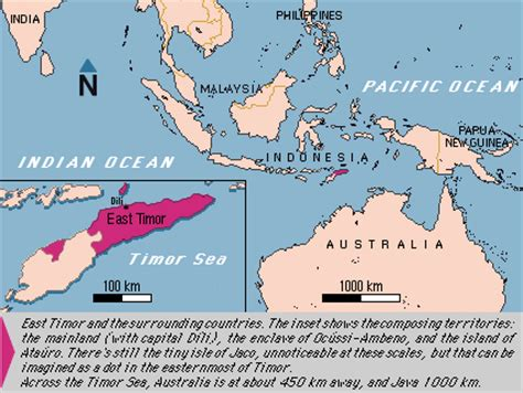 where is east timor on the map situation and limits