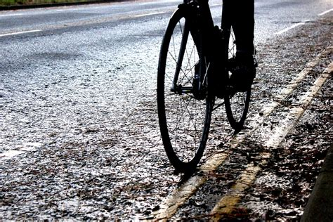 winter road cycling how to cycle safely on a wet road