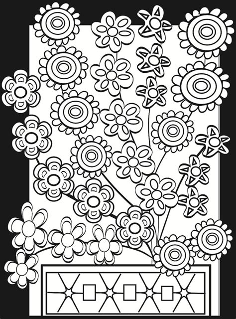 coloring 2 renew books flower power stained glass coloring book coloring pages