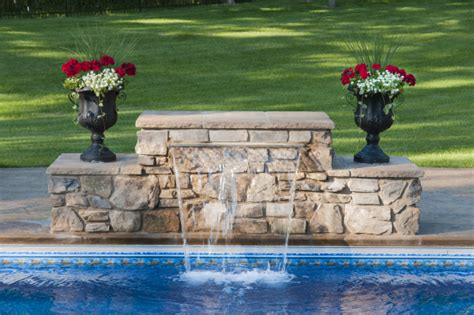 how to build a pool waterfall how to build a wall with sheer decent waterfall