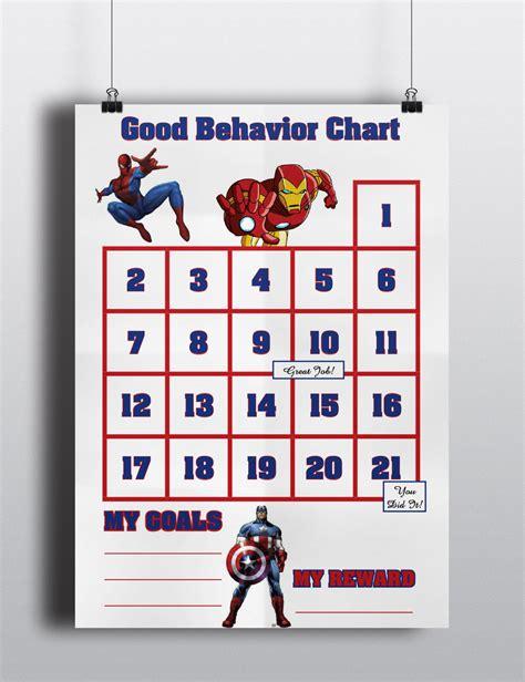 printable avengers reward charts good behavior avengers sticker chart spiderman ironman