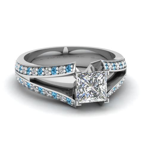 shop princess cut with blue topaz engagement rings