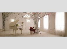 Continental Romantic Aesthetic Background, Piano, Window ... Light Pink Hearts