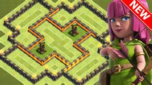 Clash of clans quot new quot best town hall 6 th6 hybrid base w 2 air