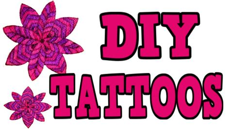 temporary tattoos for kids diy temporary tattoos 3 different ways easy diy tattoos