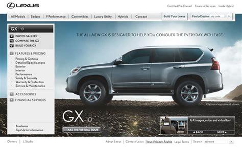 lexus gx 460 on lexus usa website