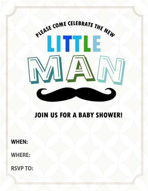 all cute free baby shower invitations to print