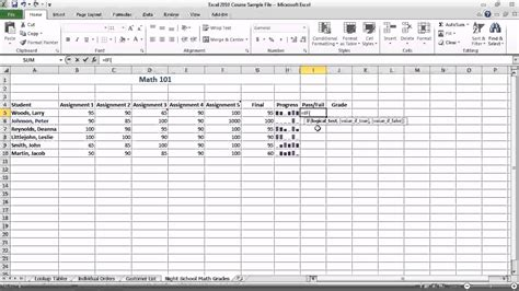 excel tutorial 2010 if function excel 2010 create basic if functions youtube
