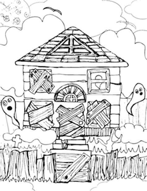 haunted house coloring page printable scary haunted houses coloring pages printable scary best
