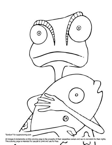rango with fish coloring page supercoloring com