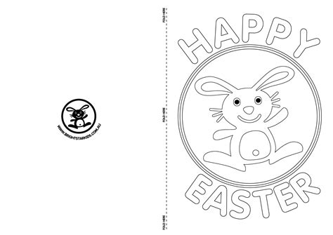 Free Easter Card Templates To Colour by 9 Free Easter Card Templates Images Printable Easter
