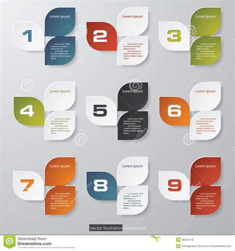 layout stock free design clean number banners template royalty free stock