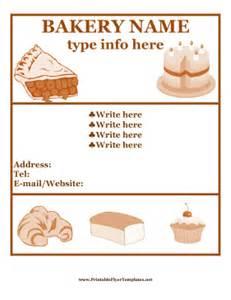 free bakery flyer templates bakery flyer