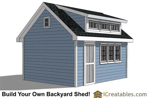 How To Build A Shed Dormer On A House by 12x16 Shed Plans With Dormer Icreatables