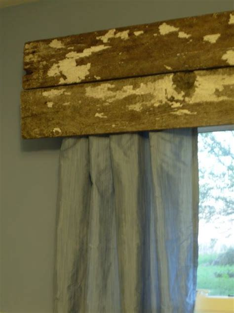 Wood Curtains Window 17 Best Images About Wood Valance On Rustic Wood Window Treatments And How To Hang
