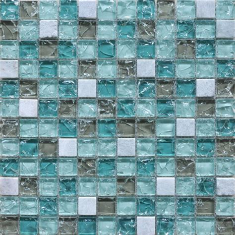 blue mosaic tile backsplash wholesale cream stone with crackle crystal mosaic tile