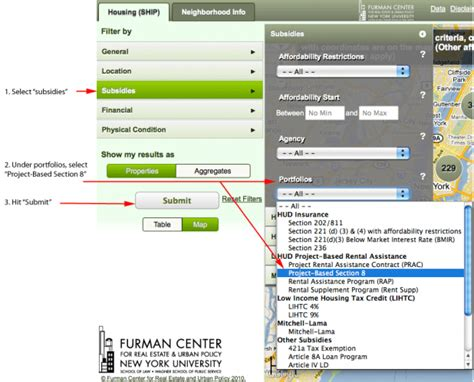 hud project based section 8 5 use filters to narrow property information by specific