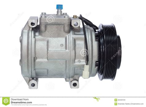 automotive air conditioning compressor on a white stock photo image 56433723