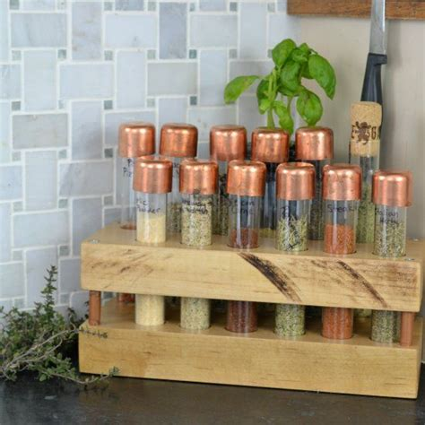 diy dean and deluca spice rack a creative way to organize your most used spices created using test copper accents and