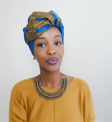 afro hairstyles with scarves african head wrap tutorial pinteres