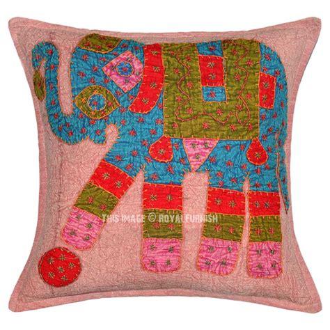 Unique Decorative Pillows Brown Multi One Of A Unique Decorative Elephant
